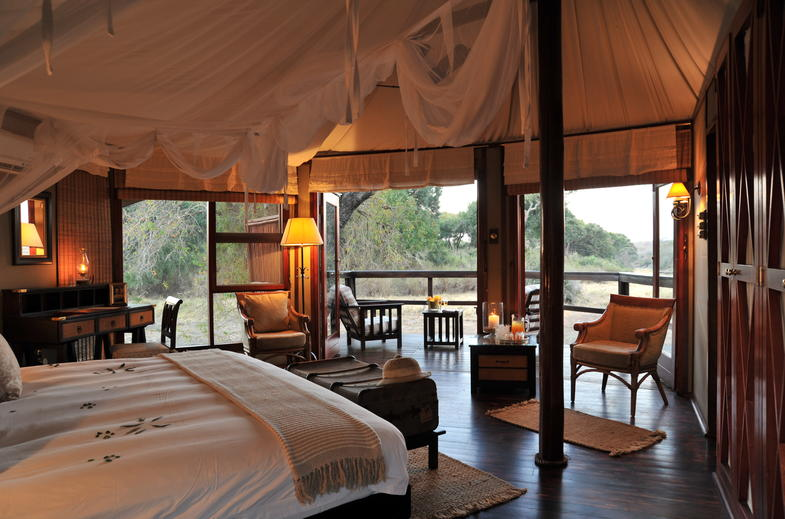 Cozy and luxury tented accommodation.