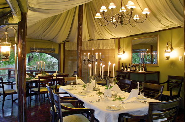 Out of Africa safari decor.