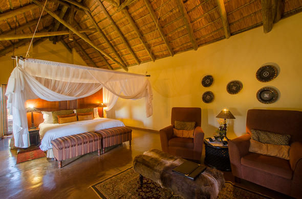 Sleep comfortably in the luxury Chalet at Shishangeni.